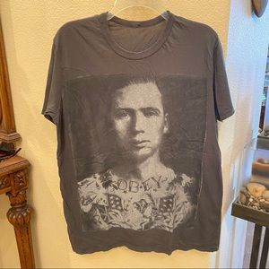 OBEY Gray Graphic T-Shirt S/M